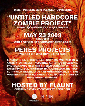 Untitled Hardcore Zombie Project - Flyer for Bruce LaBruce's latest solo show